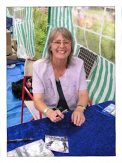 Jenny Parsons took this photo of me signing CD's at Cropredy 2004